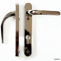 Easy Fit SMOKEY CHROME Door Handle Set Front Lever 92mm uPVC Patio lock silver