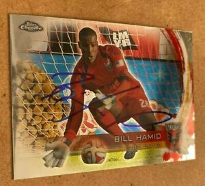 Bill Hamid Signed 2014 Topps Chrome MLS Card DC United Auto