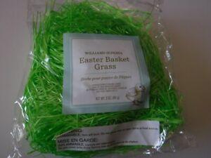 New Williams-Sonoma Easter Basket Grass Green 3 Oz Sealed Bag