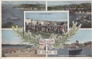 """Mailing PULL-OUT Postcard-""""Good Luck from Oban"""" Scotland Souvenir of Oban"""