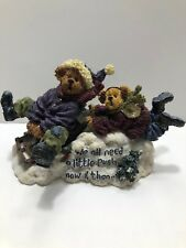 Boyds Bears The Bearstone Collection 228367 Aspen and Tahoe Enjoy The Ride