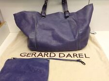 TBE Sac Gerard Darel Cabas Simple bag  En Cuir Bleu Clair Lavande