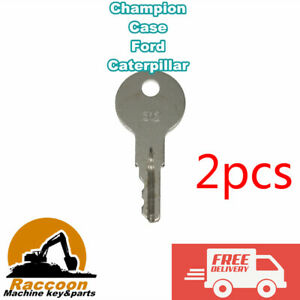 2pcs Crown Champion Hyster Yale Forklift Ignition Key 170151-001 089216-001