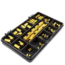 60 PIECE ASSORTED SLOTTED BRASS INSERT METRIC SELF TAPPING THREADED SCREW IN KIT