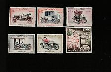 - Monaco  lot  de  6 timbres  automobile  voitures  rallye    **