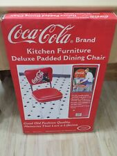New in Box Coca Cola Brand Kitchen Furniture Deluxe Padded Dining Kitchen Chair