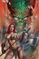 🔥🗡 MARS ATTACKS RED SONJA #1 LUCIO PARRILLO Virgin Variant Vampirella Pre-Sale