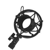 Black Universal Mic Microphone Shock Mount Clip Holder Studio Sound Recording L