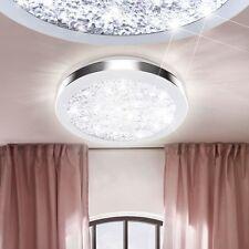 LED DESIGN Luxus Decken Leuchte Flur Bad Licht Kristall Glas Lampe Rund Ø28 cm