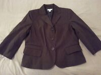 Womens Ann Taylor Loft Jacket Blazer 12 Cotton