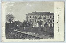 CARTOLINA 1902 CASORATE SEMPIONE STAZIONE 137/A
