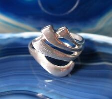 Ring Silver Ring Wavy Bands Sterling Silver 925 Size 16,8 MM