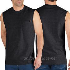Dickies Sleeveless T shirt  Mens Pocket Tee shirt WS452 Cotton Solid Plain color