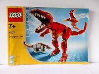 Lego Designer Set Bauanleitung/Instruction 4507 Kreaturen der Urzeit