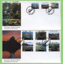 New Zealand 2001 100 Years of Tourism on two First Day Covers
