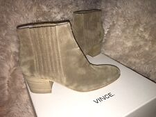 Vince Haider Suede Flint Stock Heel Bootie Ankle Boots sz 8 m eur 38 new