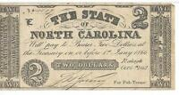 $2 1861 North Carolina issued VF Cr13 #4119 Plate E Obsolete Banknote