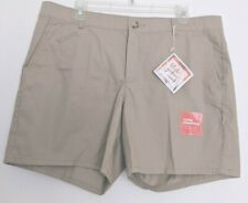 New! $42 Dockers Women 16 Shorts Truly Slimming High Rise Khaki Stretch Cotton..