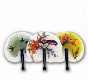 China Style Retro Flower Printing Hand Fan Folding Fan