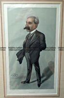 Antique Print 232-497 Medical - Laryngology - Sir Felix Semon c.1902 Vanity Fair