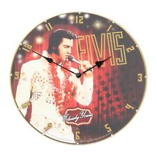 Elvis Presley Wall Clock 34cm Present Gifts The King 68 Licensed Art Room Decor