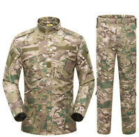 Men Camouflage Outdoor Hunting Coat Pants Army Military Tactical Suit