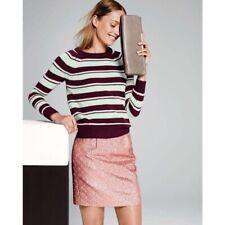 J Crew Collection 2 Rust/Pink Metallic Brocade Mini Skirt
