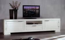 MOBILE PORTA TV PLASMA IN MASSELLO DI ROVERE LACC.BIANCOx SALA SOGGIORNO EC51