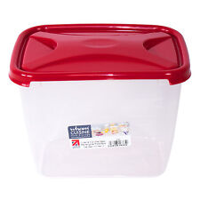 3.2 Litre Food Storage Container Rectangular Lunch Sandwich Box Red Lid Freezer