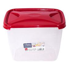 4 X alimentaires conteneurs de stockage 3.2 L déjeuner Sandwich Boîtes Rouge Cou...