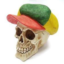 Novelty Skeleton Rasta Rastafari Bob Marley Ornament Skull Halloween Skull1