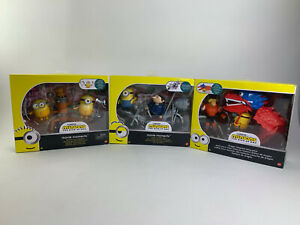 3 SETS! Minions - The Rise of Gru Movie Moments Toy Playsets - New in Boxes