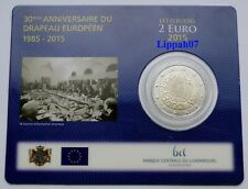 Luxemburg / Luxembourg speciale 2 euro 2015 EU Vlag / Flag BU in Coincard