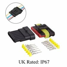 Waterproof 6 Way Pin Electrical Wire Joint Superseal Connector / UK Rated: IP67