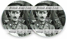 British Army Lists Vintage Books WW1 History The Great War Medals Helmet DVD 246