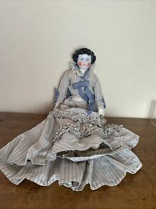 Antique doll with china head and Leather body made in Germany 18 inches