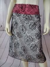 MAYLE ANTHROPOLOGIE Skirt 8 Viscose Nylon Black Floral Lace Lined Back Zip SEXY!