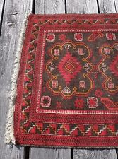 "Antique Rug SHIRAZ PERSIAN Tribal Hand Knotted Vegetable Dye 38"" x 60"" Carpet"
