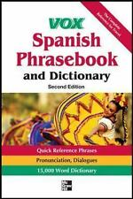 Vox Spanish Phrasebook and Dictionary, 2nd Edition by Vox (2012, Paperback)