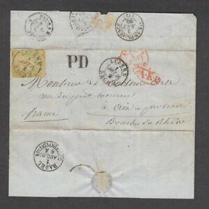 Switzerland 1860 40r Entire
