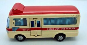 Vintage Friction Diecast Model PUBLIC LIGHT BUS 16 SEATS in good condition