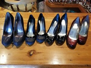 Lot of 4 pair of Womens Size 6 Heels / Pumps
