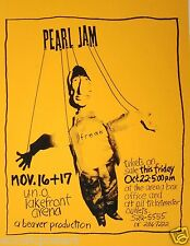 "PEARL JAM NEW ORLEANS ""VS. TOUR"" 1993 CONCERT POSTER-""Freak""Puppet, Grunge Music"