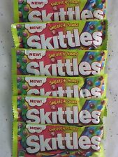 Sweets + Sours Skittles Lot 6 Chewy Candy American Candies Taste the Rainbow BFR