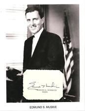 Edmund Muskie Autograph Secretary State Jimmy Cater Senator Governor Maine #2