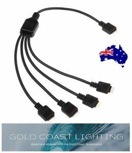 RGB LED Strip Light Splitter Black Cable 2,3,4 way splitter 5050