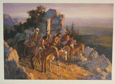 "Howard Terpning ""Gold Seekers to the Black Hills "" S/N L/E  610/1000  w/ COA"