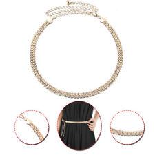 Ladies Metal Adjustable Gold Waist Belt Watch Strap Pattern for Bridal Dresses