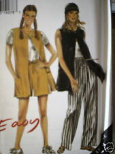 6509 Vintage NEW LOOK SEWING Pattern Misses Tunic Shorts 10-22 UNCUT OOP NEW FF