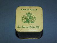 VINTAGE JOHN MIDDLETON WALNUT AROMATIC BLEND TOBACCO TIN